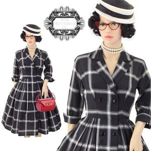 1950'S PRINCESS COAT VINTAGE DRESS